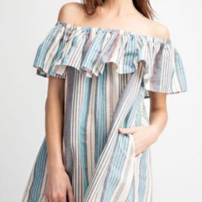 Striped Linen off the shoulder