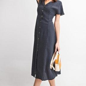 Navy Wing Polka Dot Dress *Final Sale*