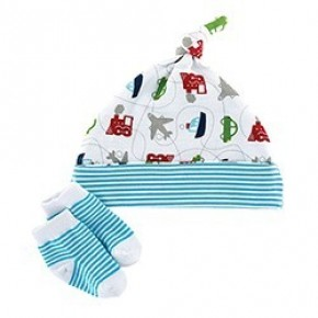 Planes Trains and Automobiles Cap and Sock Set