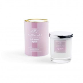 Pink Pepper & Plum Luxury Glass Candle 8oz