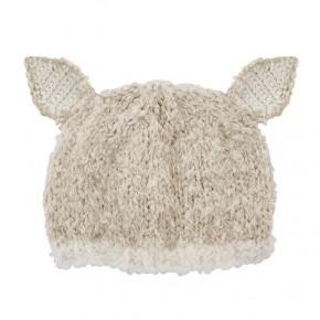 Cream lamb knit hat *Final Sale*