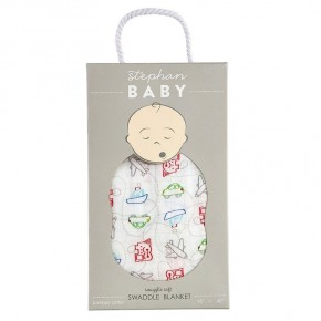 Swaddle Blanket - Planes Trains and Automobile