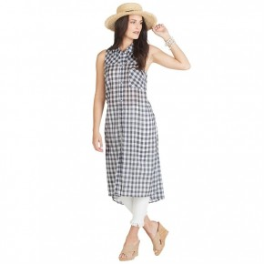 Finley Duster Gray Check *Final Sale*