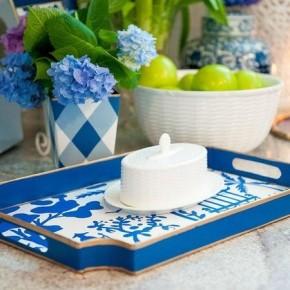 Blue and White Jaye Tray