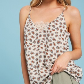 LEOPARD V-NECK TANK *Final Sale*