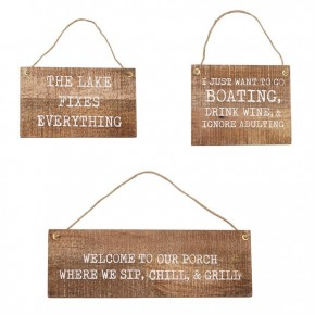 Wood Hanger Lake Plaques