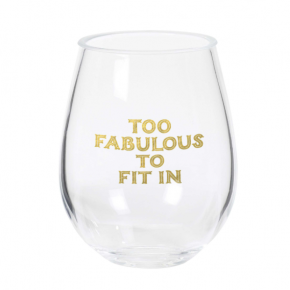 Too Fabulous Stemless Wine Glass