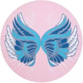 Circle Photo Towel-Angel Wings