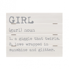 Girl Definition Pallet Sign