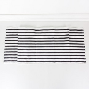 White/black Striped Table Runner