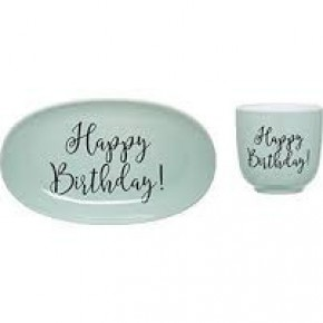 Happy Birthday Stoneware Set