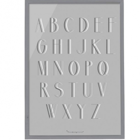Alphabet Wood Framed Wall Decor