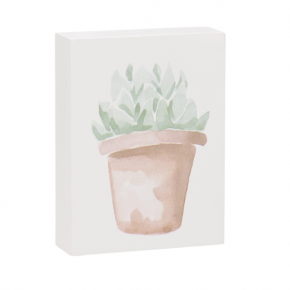 Leafy Succulent Block Sign