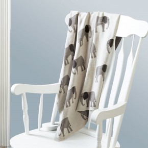 Knit Elephant Blanket
