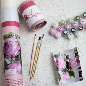 Beautiful Blooms Paint by Number Set by Pink Picasso