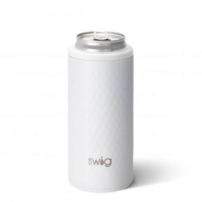Swig 12 oz Skinny Can Cooler Golf White