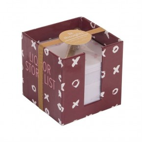 Liquor Store Lists - Lit Thoughts Note Cube and Pen Set