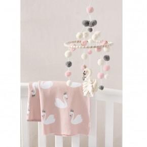 Swan Knit Blanket