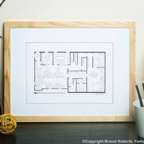 The Office Floorplan Print