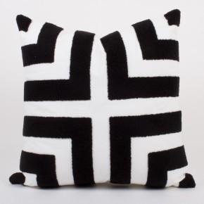 Black/White Loop Terry Pillow