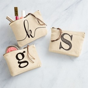 Initial Canvas Cosmetic Pouch *Final Sale*