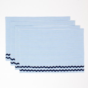 Blue Seersucker Placemat Set of 2