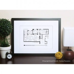 "Fantasy Floorplan 5"" x 7"" Will and Grace Apartment"