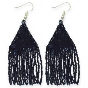 Luxe Petite Fringe Earring Black *Final Sale*