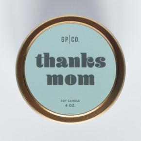 Thanks Mom 4 oz Candle Tin