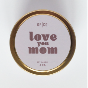 Love You Mom 4 oz Candle Tin