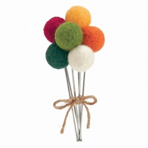 Felted Pom Flowers Bold