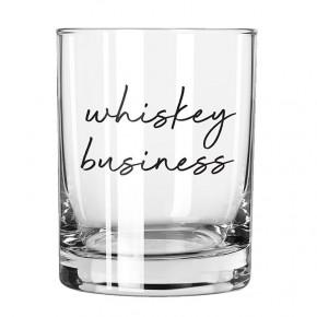 Whiskey Business Rocks Glass