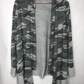 Camo SharkBite Hooded Cardigan