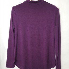 Purple Mock Neck