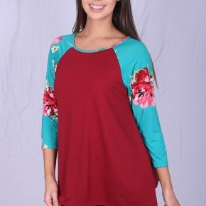 Real Beauty Floral Raglan - Sizes 4-20