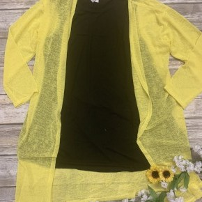 Peace of Mind Comfy Spring Cardigan in Yellow - Sizes 4-20