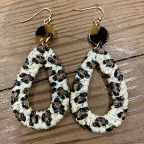 So Purr-fect Woven Leopard Earrings