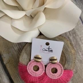 Summer Sweetness Tassel Circle Earrings- Multiple Colors