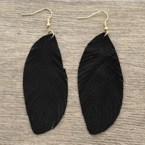 Think About Me Suede Earrings - Black