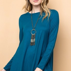 As Simple As That Tunic in Teal - Sizes 12-20