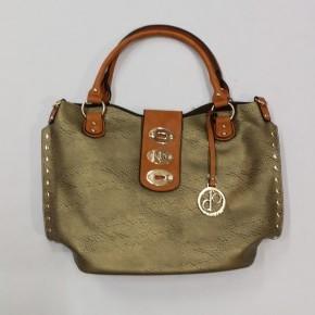 Girl Around Town Clasp Handbag - Gold