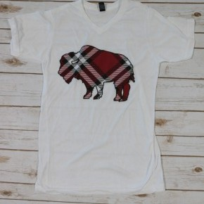 My Favorite Plaid Buffalo Graphic Tee ~ Size 4-20