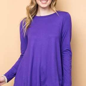 As Simple As That Tunic in Purple - Sizes 12-20
