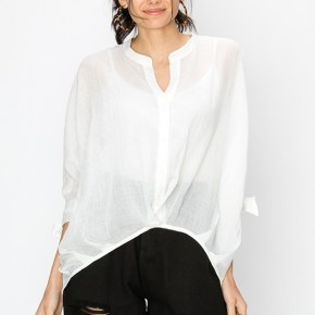 Like A Love Song Button Up Blouse in White - Sizes 4-10