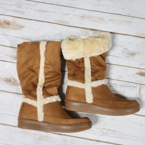 The Weather Outside is Frightful Camel Snow Boot - Sizes 5.5-10