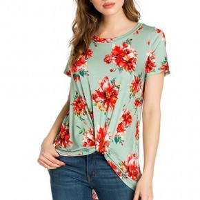 You Are Good To Me Floral Tunic With Knotted Hem