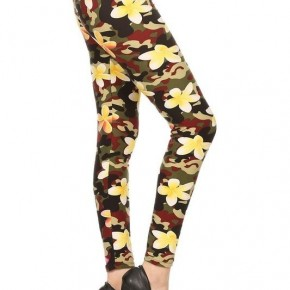 Love Take Me Over Camo Leggings With Floral Accents - Sizes 12-20