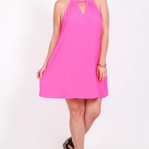 Feeling Fancy Sleeveless Dress in Hot Pink - Sizes 12-20