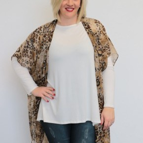 Sneak Away Leopard Kimono In Brown