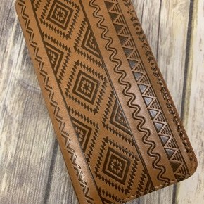 Leather Aztec Print Wallet